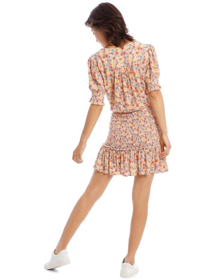 Shirred Skirt - Retro Floral Print image 3