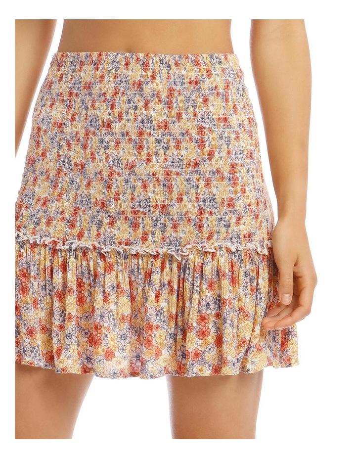 Shirred Skirt - Retro Floral Print image 4