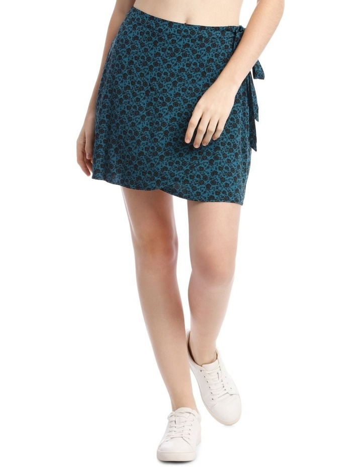 Teal Ditsy Wrap Skirt image 1