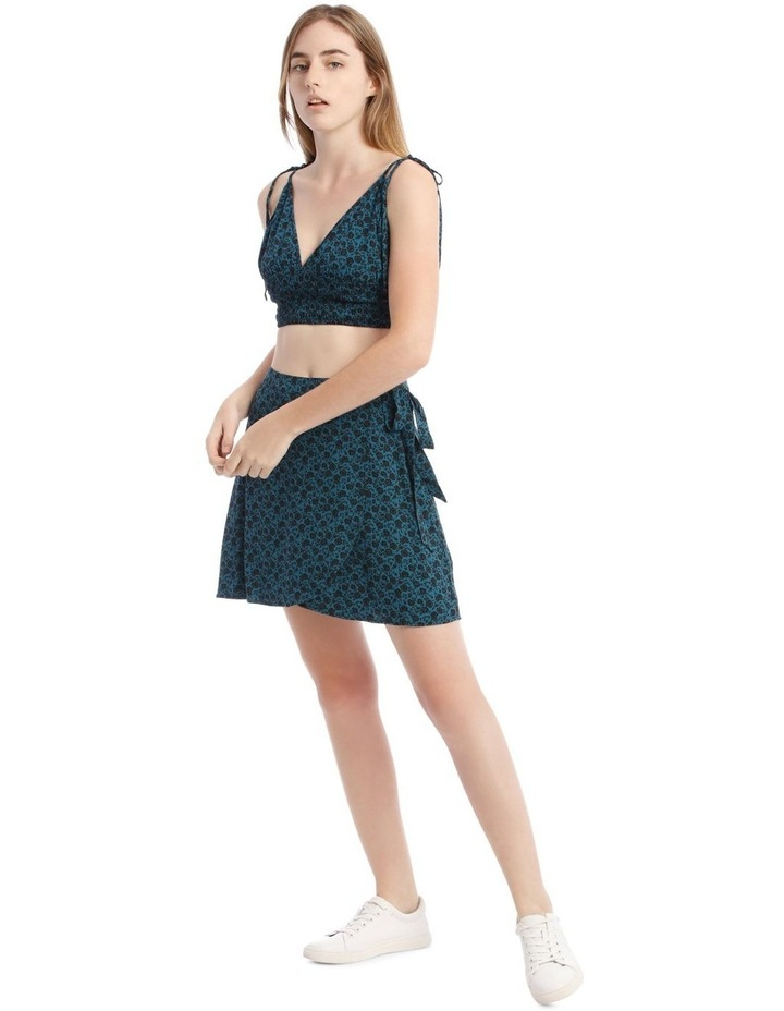 Teal Ditsy Wrap Skirt image 2