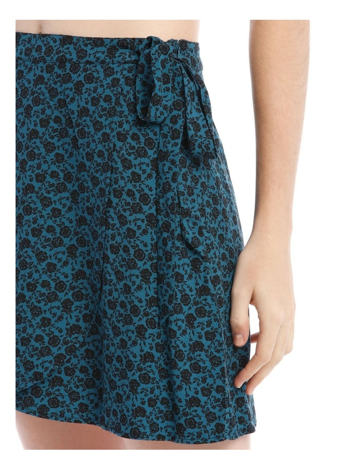 Teal Ditsy Wrap Skirt image 4