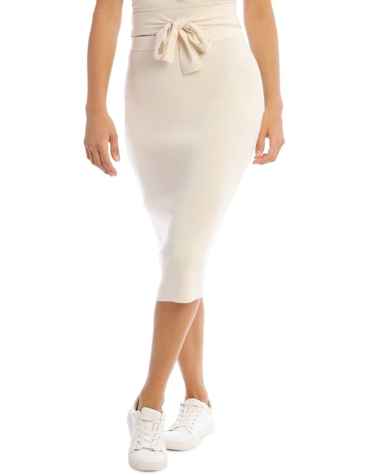 Knit Rib Midi Skirt image 1