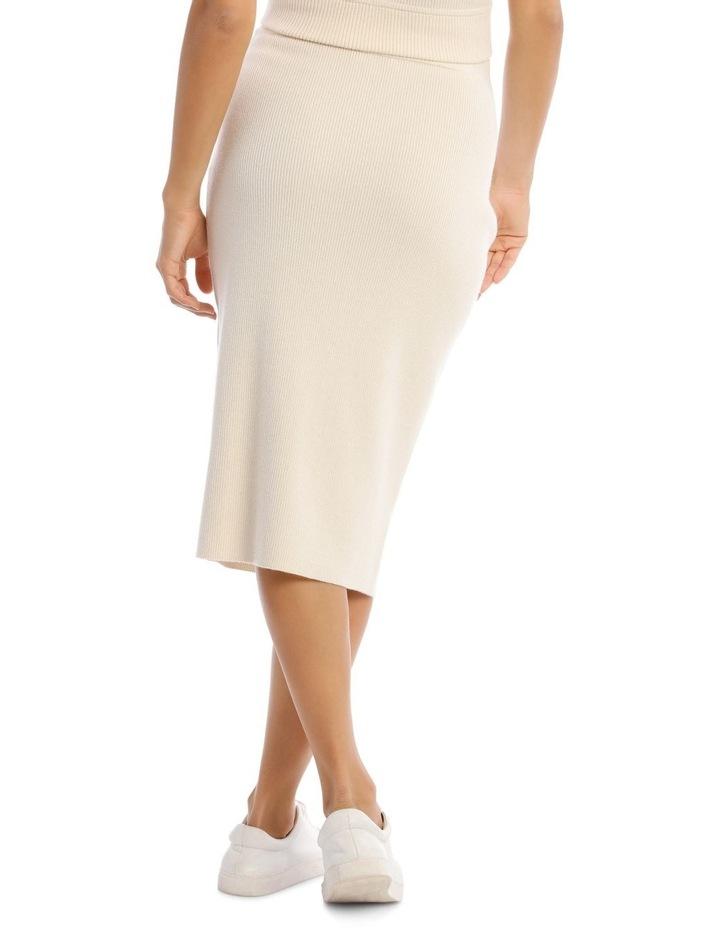 Knit Rib Midi Skirt image 3