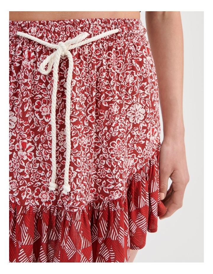 Rope Tie Ruffle Hem Skirt image 5