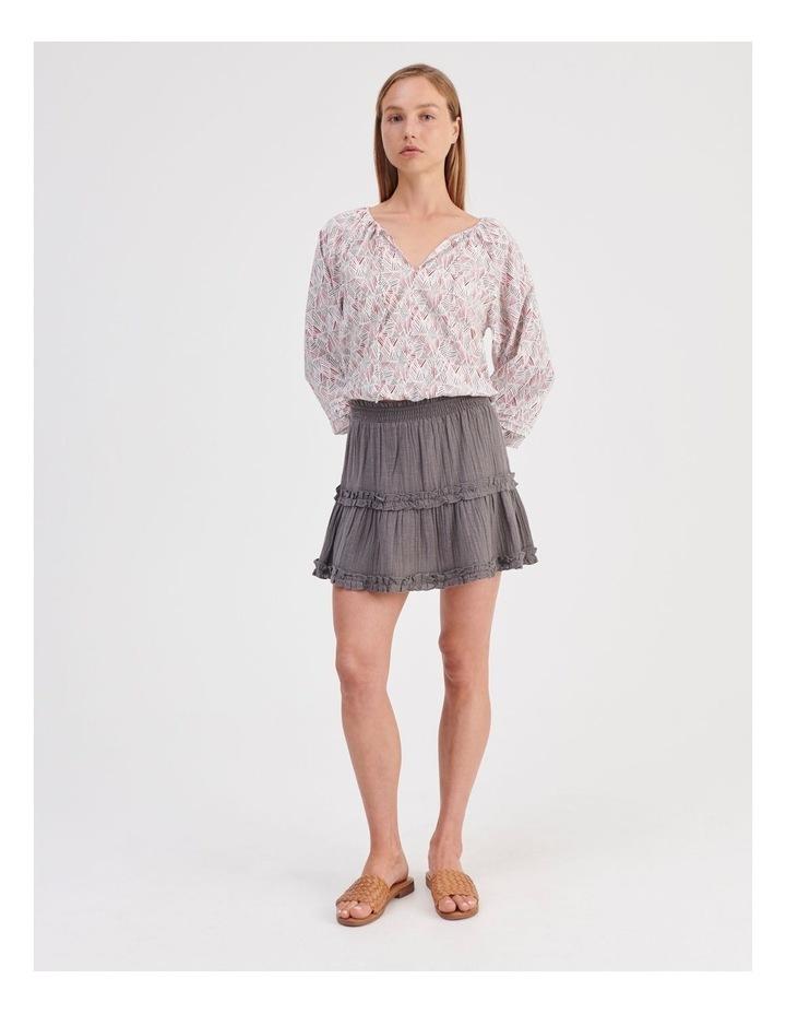 Textured Ruffle Skirt image 2