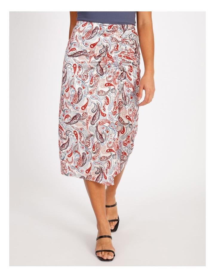 Ruched Detail Midi Skirt image 1