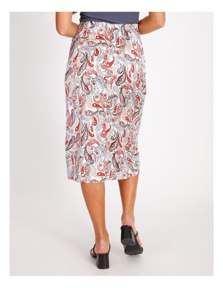 Ruched Detail Midi Skirt image 3