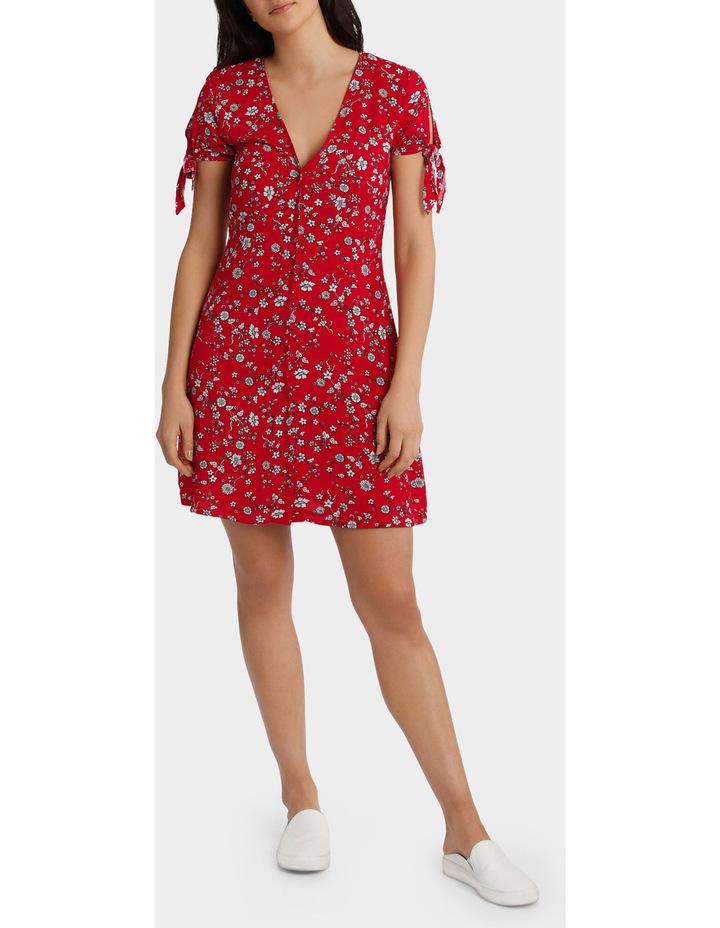 Floral Print Tie Sleeve Dress image 1