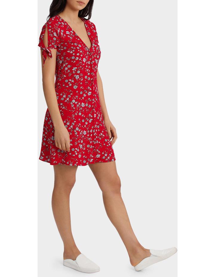 Floral Print Tie Sleeve Dress image 2