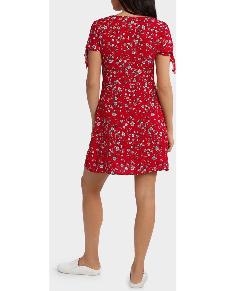 Floral Print Tie Sleeve Dress image 3