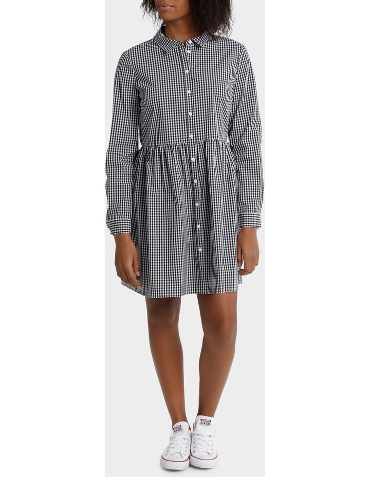 Gingham Shirt Dress image 1