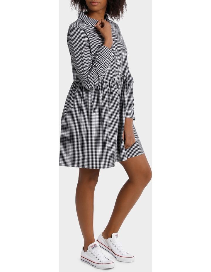 Gingham Shirt Dress image 2