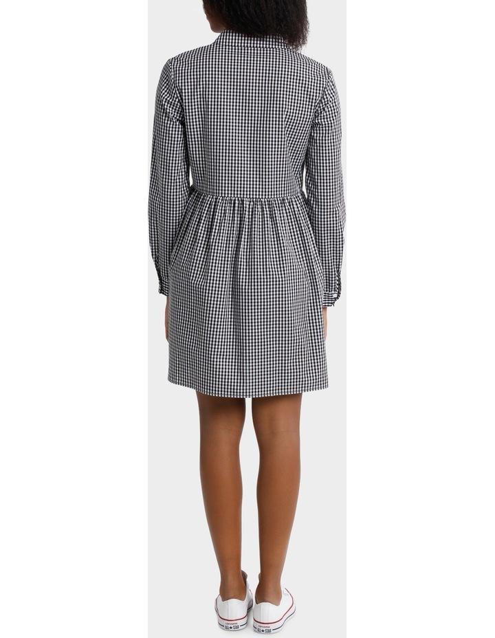 Gingham Shirt Dress image 3