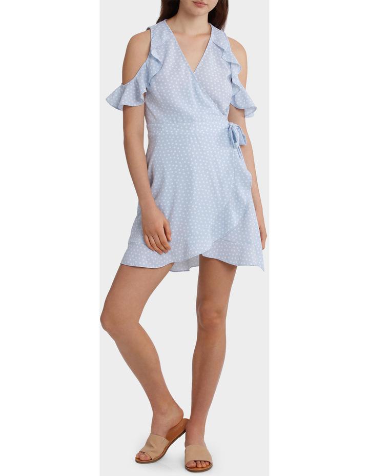 Ruffle Sleeve Wrap Front Dress image 1