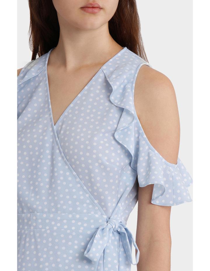 Ruffle Sleeve Wrap Front Dress image 4