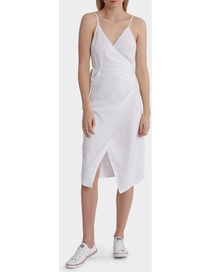 a32ce670c7c Linen Midi Wrap Dress image 1