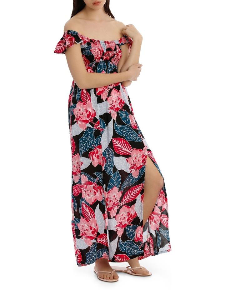 Shirred Off The Shoulder Maxi Dress image 2