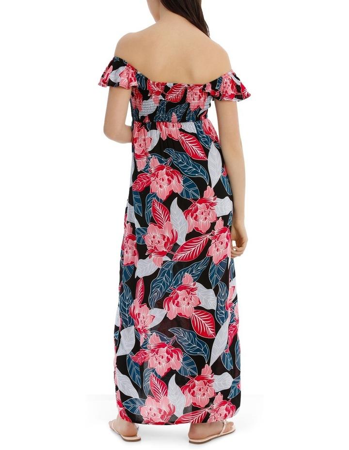 Shirred Off The Shoulder Maxi Dress image 3