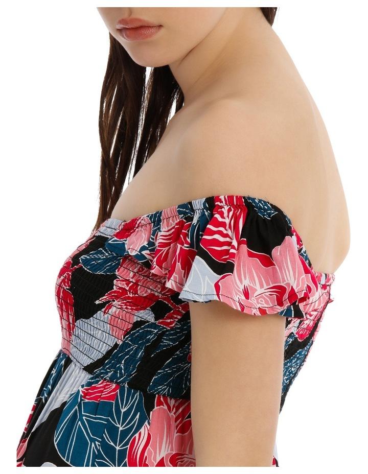 Shirred Off The Shoulder Maxi Dress image 4