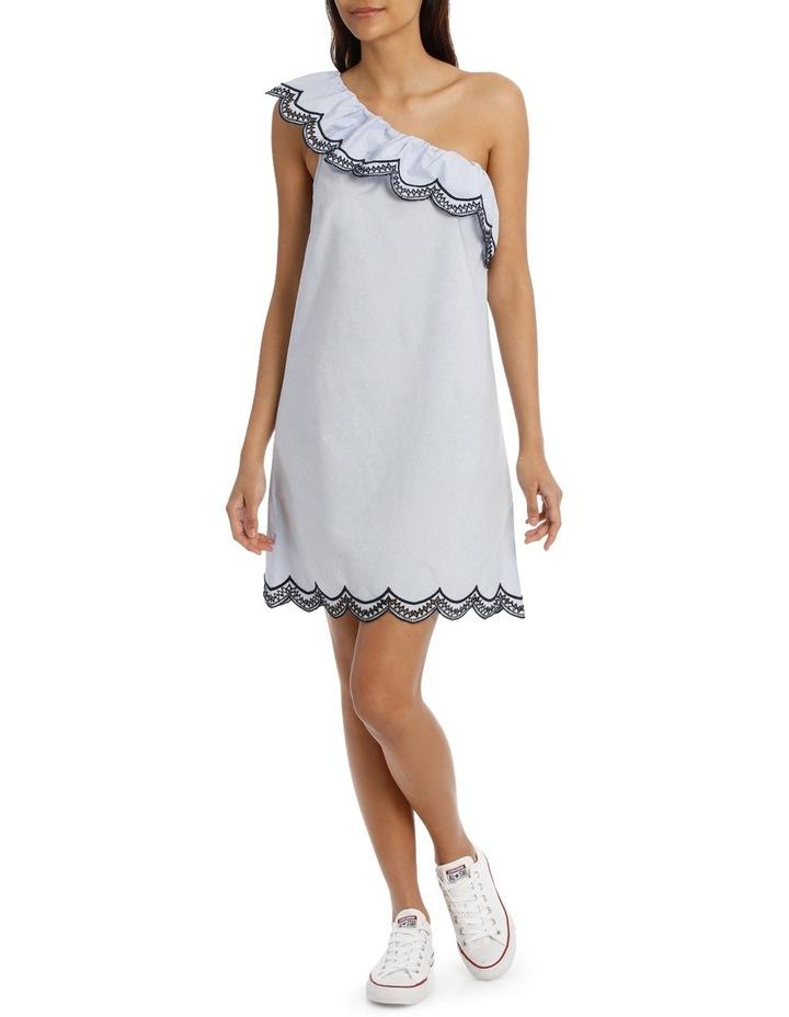 One Shoulder Scallop Dress image 1