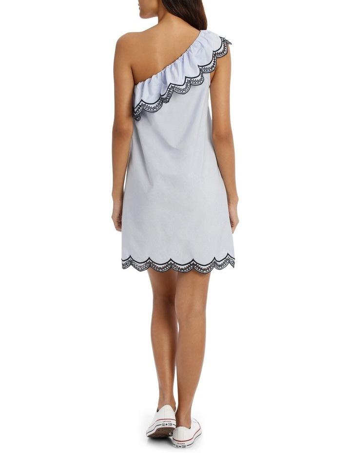 One Shoulder Scallop Dress image 3