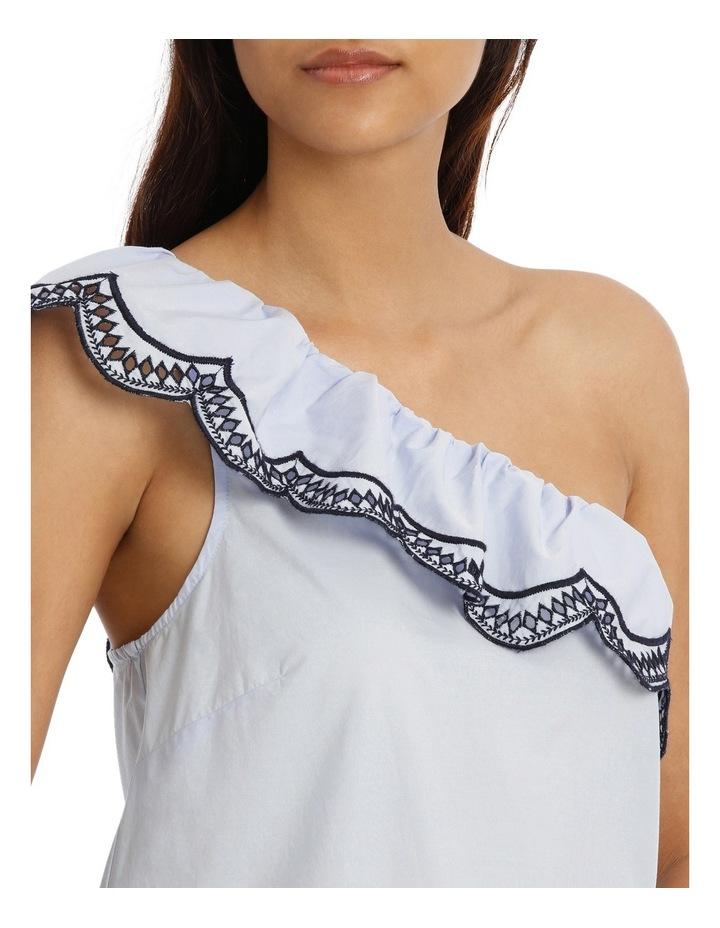 One Shoulder Scallop Dress image 4