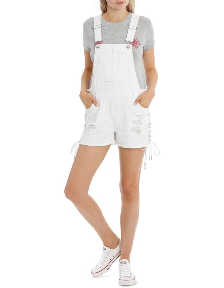Denim Lace Up Dungarees image 1