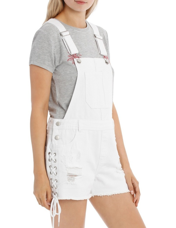 Denim Lace Up Dungarees image 2