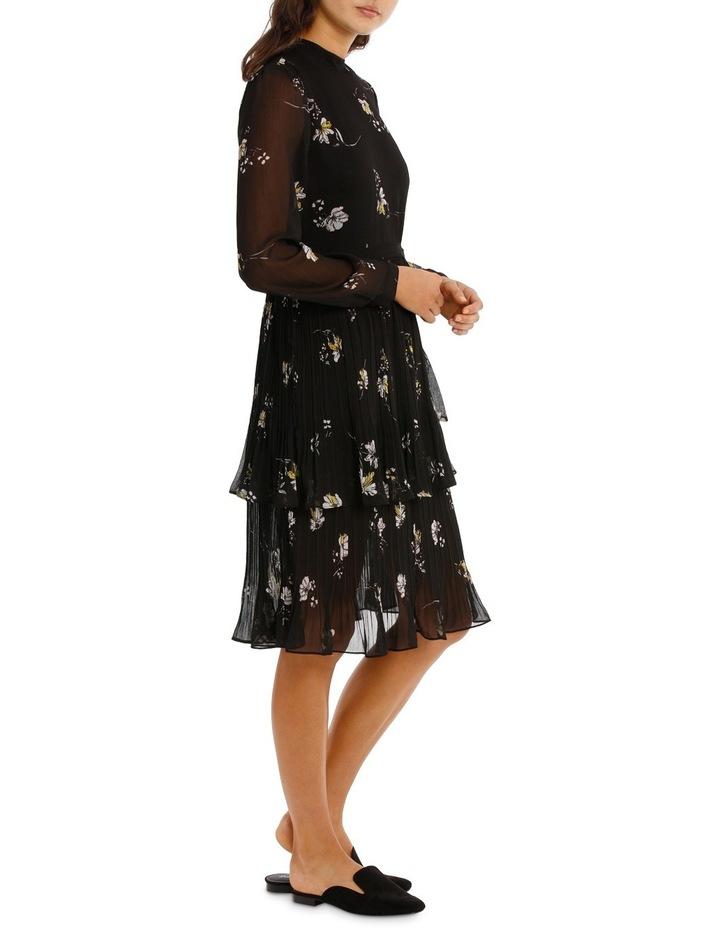 Printed Pleated Tiered Midi Dress MSCW18213. image 2