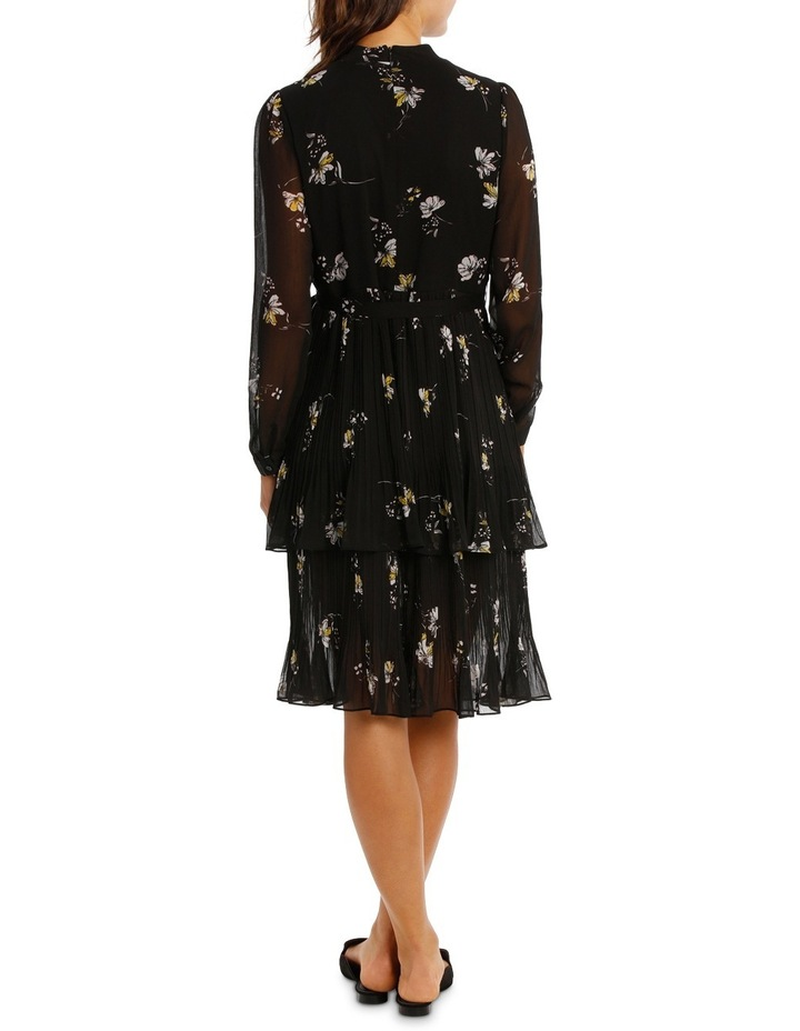 Printed Pleated Tiered Midi Dress MSCW18213. image 3
