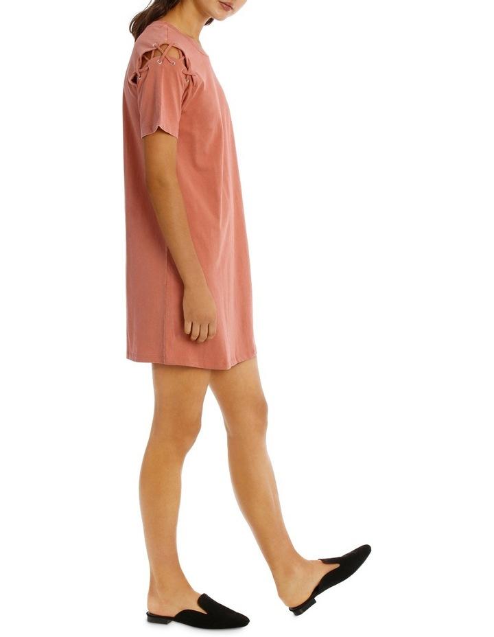 Lace Up Tee Dress image 2