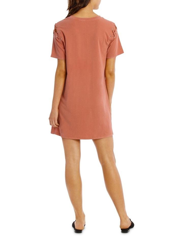 Lace Up Tee Dress image 3