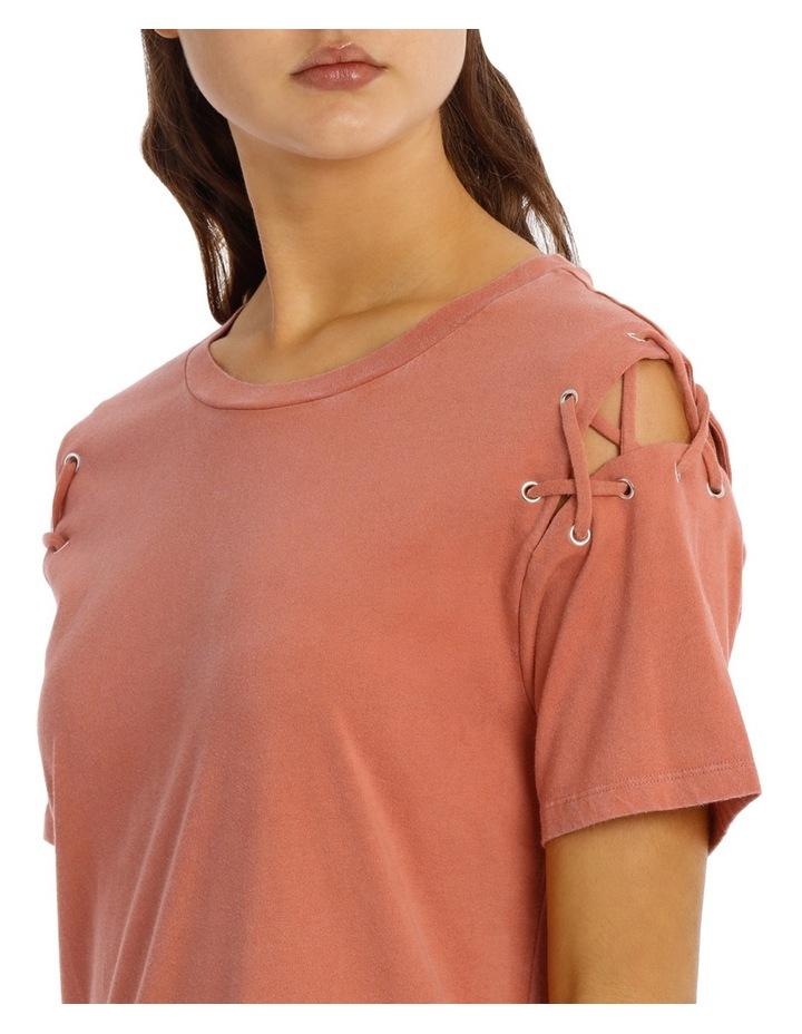 Lace Up Tee Dress image 4
