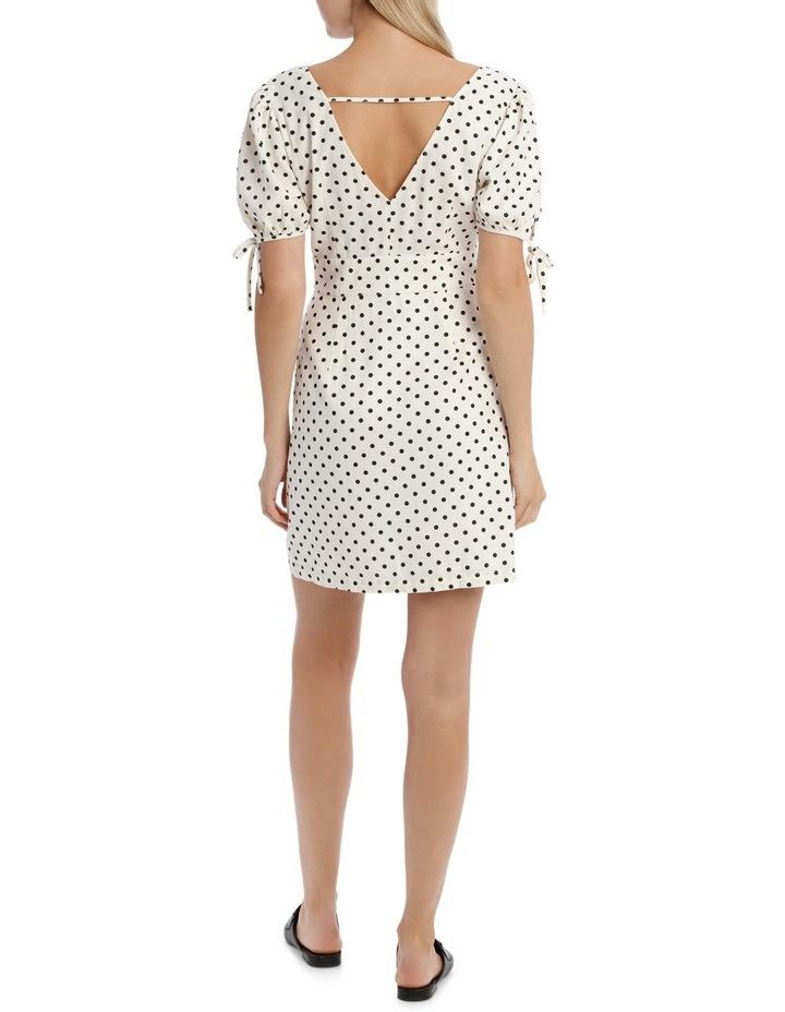 Linen Button Through Tie Sleeve Dress image 3