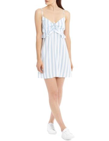 21a003a6ea54 Miss ShopStrappy Tie Front Dress - Lt Blue   White Stripe. Miss Shop  Strappy Tie Front Dress - Lt Blue   White Stripe