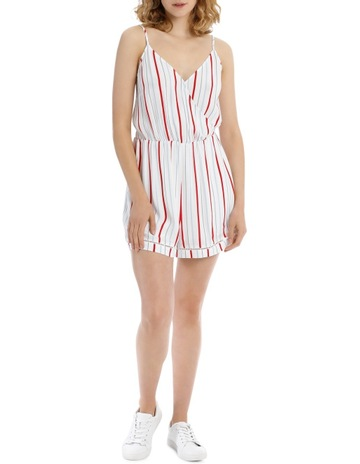 6d81a8e457d8 Miss ShopLadder Trim Jumpsuit - Tri Colour Stripe. Miss Shop Ladder Trim  Jumpsuit - Tri Colour Stripe