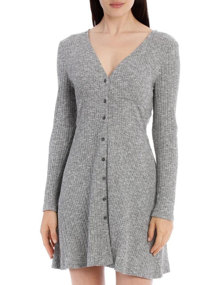 Rib Long Sleeveless Dress - Speckle Marle image 1