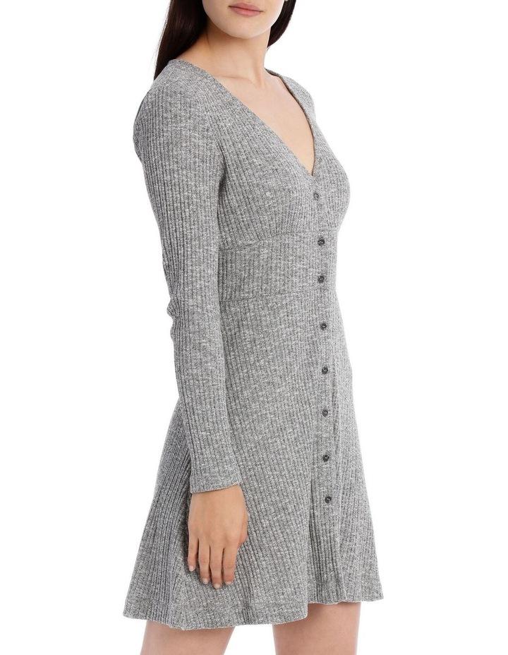 Rib Long Sleeveless Dress - Speckle Marle image 2