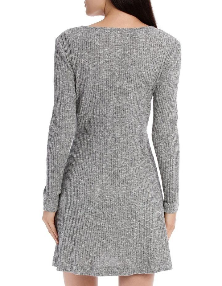 Rib Long Sleeveless Dress - Speckle Marle image 3