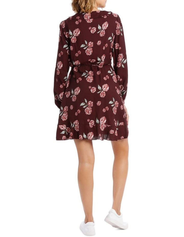 Long Sleeve Frill Wrap Dress image 3