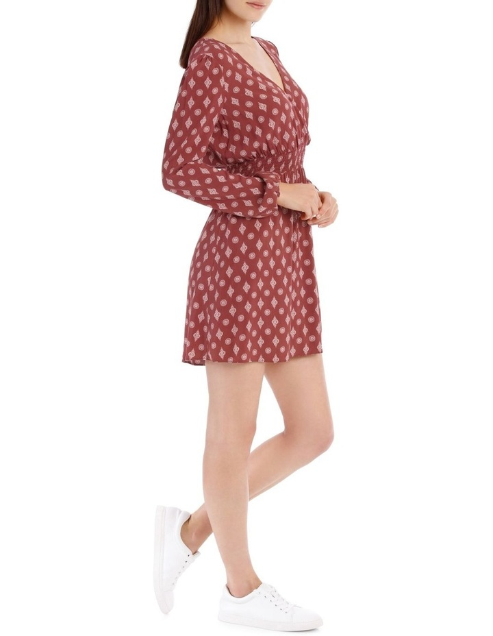 Shirred Waist Long Sleeve Dress image 2