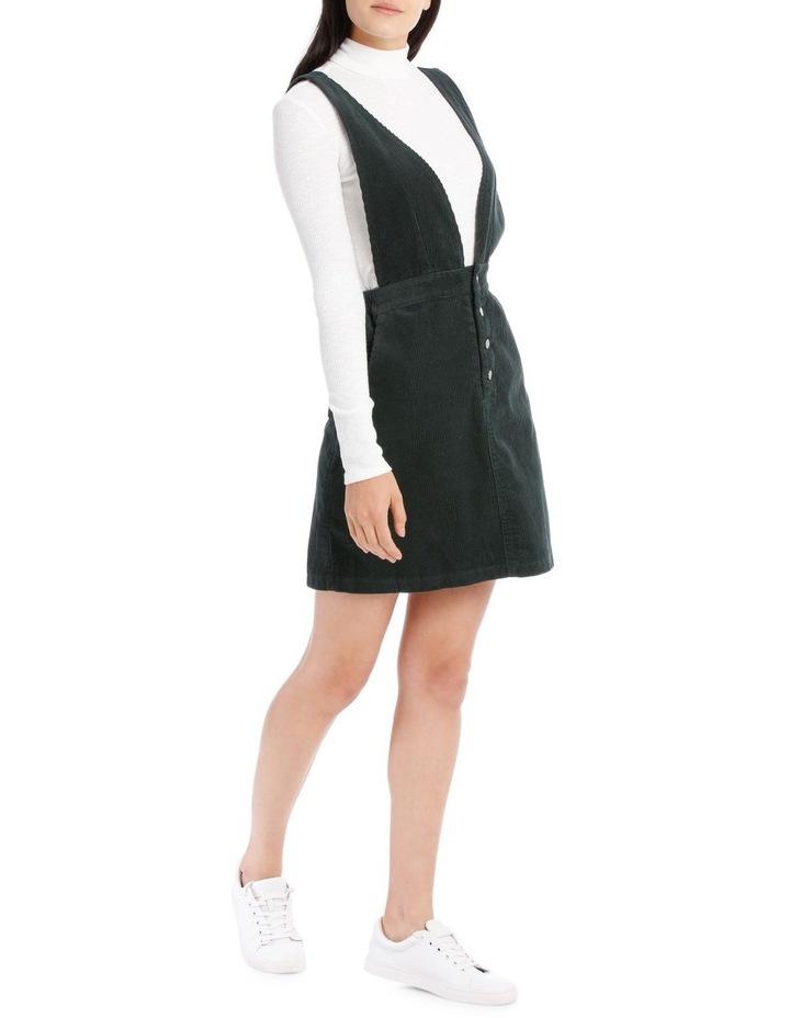 Cord Cross Back Pinafore Dress image 2