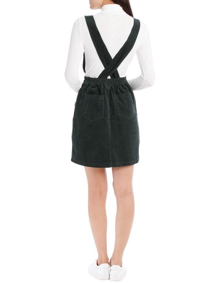Cord Cross Back Pinafore Dress image 3