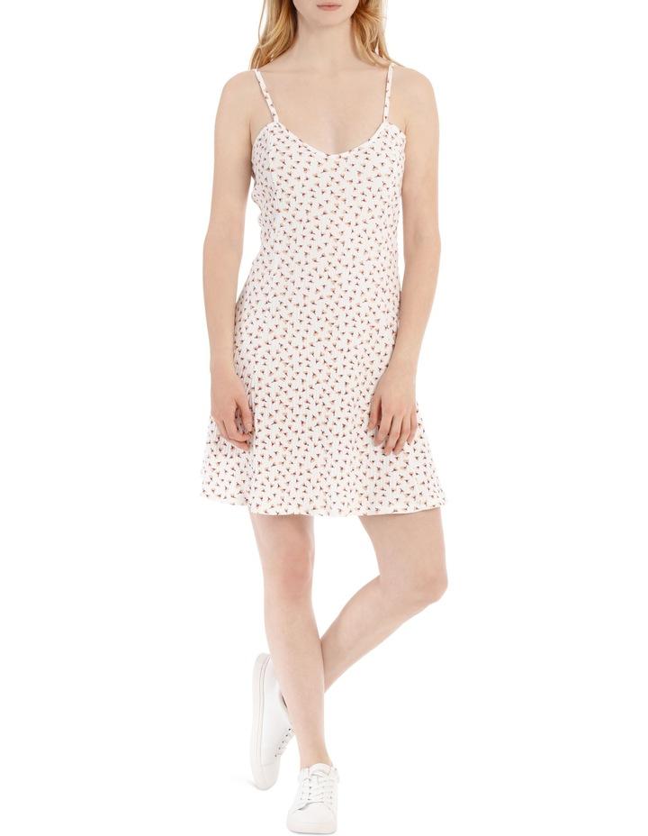 Swing Skater Dress - Off White Base Cotton Ditsy image 1