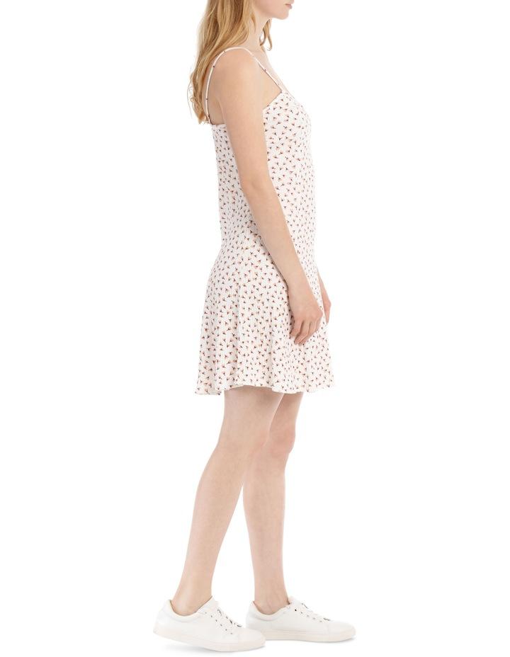 Swing Skater Dress - Off White Base Cotton Ditsy image 2