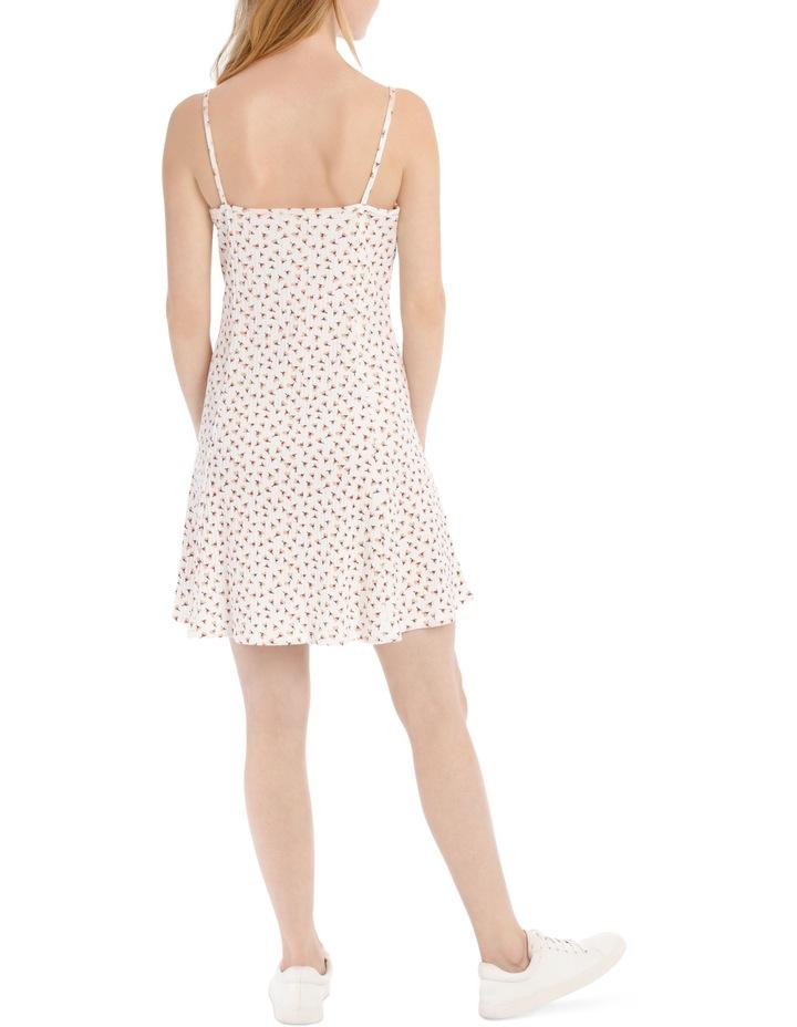 Swing Skater Dress - Off White Base Cotton Ditsy image 3
