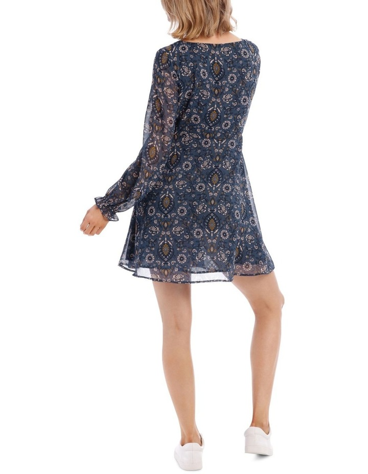 Ruched Front Long Sleeve Dress image 3