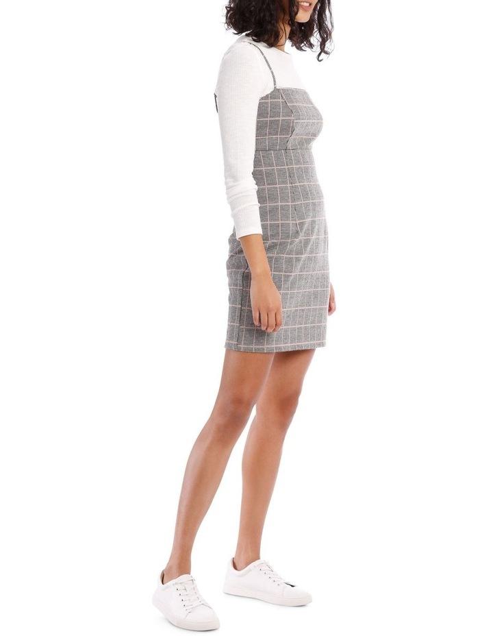Natural Check Pinafore Dress image 2