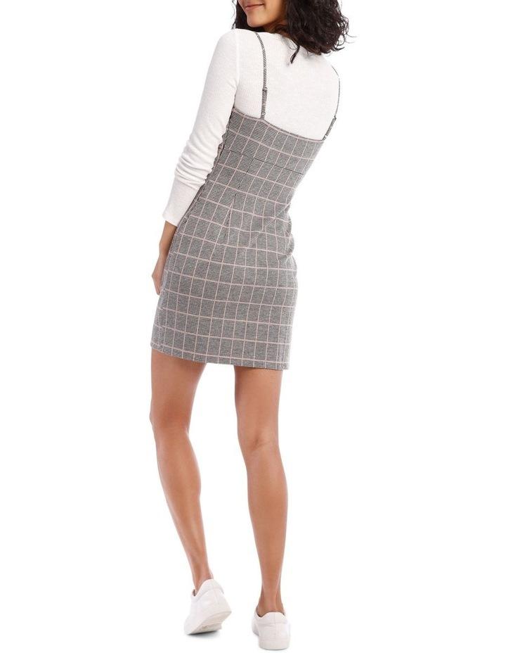 Natural Check Pinafore Dress image 3