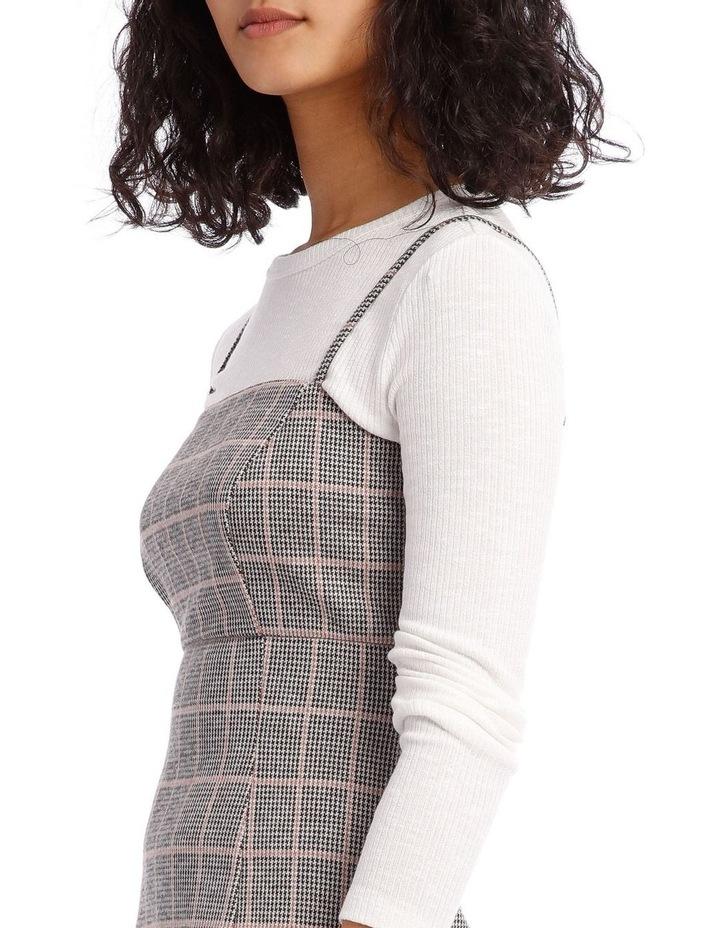 Natural Check Pinafore Dress image 4